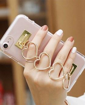 1050124 - iPhone的Tri Cozy心形透明果冻皮套