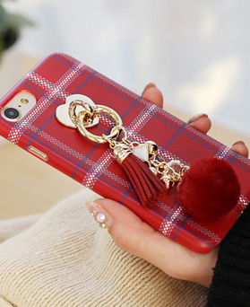 1050128 - Tricozy棉质格纹针织3D弧形iPhone兼容硬盒