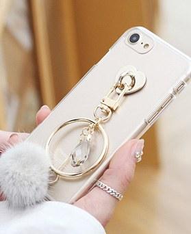 1050132 - Tricozy貂皮流苏iPhone兼容透明果冻皮套