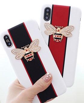 1050134 - Tricozy水晶蜜蜂3D弯曲iPhone兼容硬壳