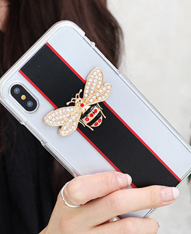 1050136 - Tri Cozy Crystal Honey Bee iPhone兼容的透明果冻盒