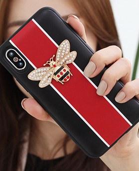 1050141 - TriCozy Crystal Honeybee iPhone兼容卡门保险杠盒