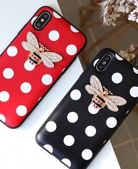 1050143 - TriCozy Dot Honeybee iPhone兼容卡门保险杠盒