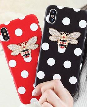 1050145 - TriCozy点蜜蜂3D弧形iPhone兼容硬壳