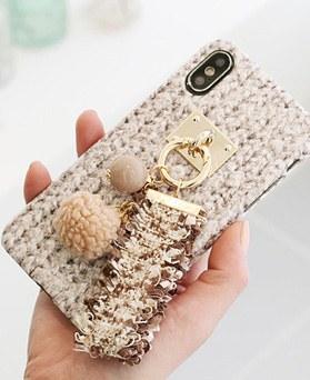1050149 - TriCozy花呢流苏3D弧形iPhone兼容硬壳