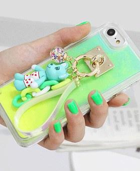 1050151 - Tricozy霓虹灯沙可爱裸露的iPhone兼容发光壳