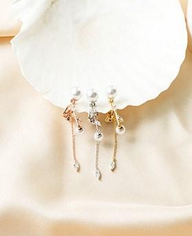 1050216 - <ER2262_DK03> [夹子耳环]是珍珠夹子耳环